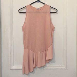 3/$30 Blush Pink Zara Asymmetrical Hem Tank Top